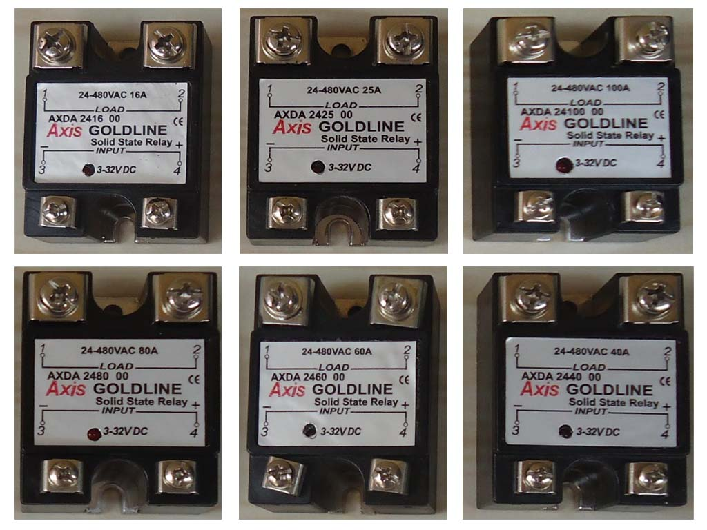 Solid State Relays Single Phase Dydac Controls Relay 230vac Axis Goldline Series Ssr
